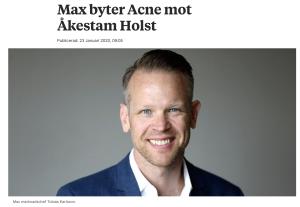 Max Byter Acne mot Åkestam Holst